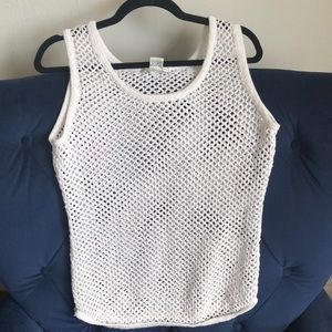 Sheer Knit fishnet style tank top or cover up